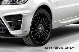 black chrome range rover larte design range rover sport
