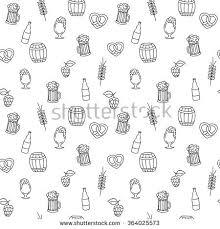 hand drawn artistic beer mug seamless stock vector 364025573