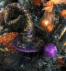 diy sparkly halloween tree forever green mom