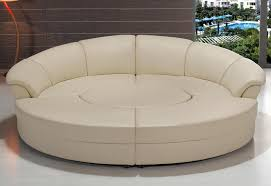 Contemporary White Leather Sectional Sofa by Amazon Com Modern Circle Sectional Sofa Set With Table Off