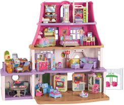 Barbie Dream House Floor Plan Amazon Com Fisher Price Loving Family Dollhouse Toys U0026 Games