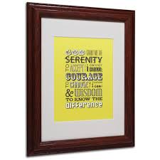 serenity prayer picture frame serenity prayer by megan romo matted framed textual products
