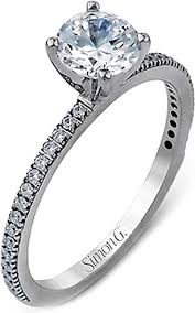 rings with pave images Simon g thin pave diamond engagement ring pr108 png