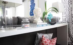 étagère derrière canapé table console adossée au canapé de salon plus de 50 idées