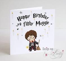 harry potter muggle birthday card son brother nephew wizard j k