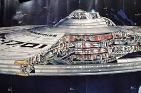 detail from star trek tmp poster of the enterprise refit