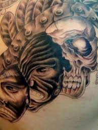scary skull with gas mask tattoo tattooshunter com