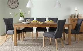 8 chair dining table highbury oak extending dining table with 6 duke oatmeal chairs only