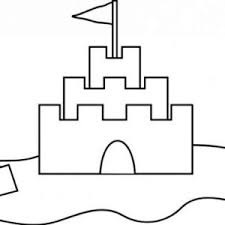 Clamshell And Sand Castle Coloring Page Clamshell And Sand Castle Sandcastle Coloring Page