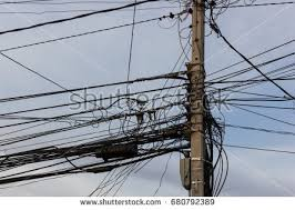 Messy Wires Cables Chaotic Mess Network Stock Images Royalty Free Images
