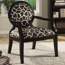 beautiful animal print accent chair with black and tan zebra print fabric accent chair coaster 900214