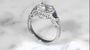 moissanite vintage engagement rings vintage world engagement ring with moissanite