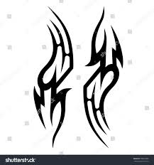 tribal tattoo art designs sketched simple stock vector 706970386
