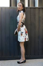 cue dress cue floral dress nataliesdailylife