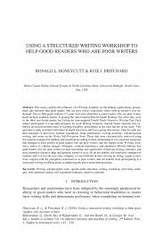 special writing paper using a structured writing workshop to help good readers who are effective learning and teaching of writing effective learning and teaching of writing
