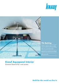 Interior Brochure Pdf Aquapanel Interior Drywall For Wet Areas