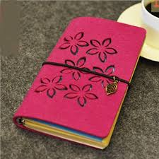 Notebook Cover Decoration Red Petals