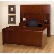 Small Cherry Wood Desk Executive Office Desk Suite In Cherry Wood