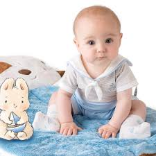 bay bay baby bunnies by the bay sailor bud romper for baby boys