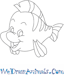 draw flounder mermaid