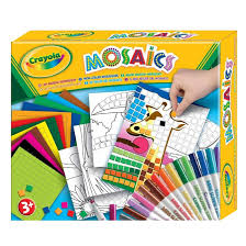 crayola my mosaics stickers by numbers workshop childrens kids
