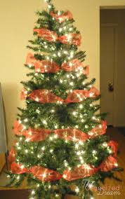 wide mesh ribbon try this simple way to decorate your christmas tree with wide mesh