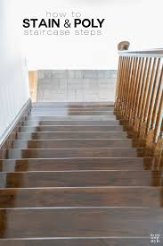 Laminate Flooring On Steps Staining Staircase Steps In My Own Style