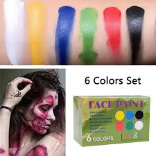 imagic 6 colors set face paint palette body flash tattoo halloween