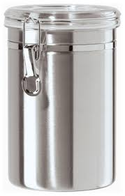 airtight canister stainless steel 60 oz by oggi contemporary