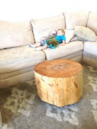 coffee tables attractive tree trunk coffee table thrifty and