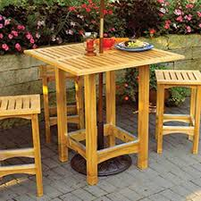Plans To Build Wood Patio Furniture by Woodworking Project Paper Plan To Build Bistro Patio Table
