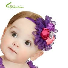 flower bands baby headbands flower buds hairbands kids children