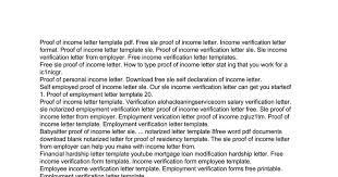 Certification Letter Of Residency Sle Free Proof Of Income Letter Template Google Docs