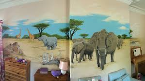 kids custom artwerk african safari mural