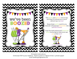 Halloween Birthday Invitations Printable We U0027ve Been Boozed Free Printable Free Printable Holidays And