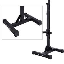 amazon com muorka pair of adjustable barbell stands racks bench