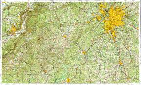 Map Of Atlanta Area by Download Topographic Map In Area Of Atlanta Anniston Sandy
