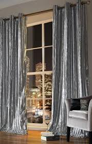 Grey And Silver Curtains Iliana Silver Grey Ready Made Curtains
