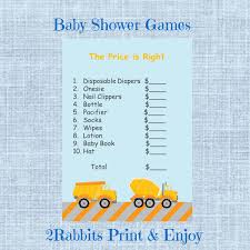 construction themed boy baby shower the price is right