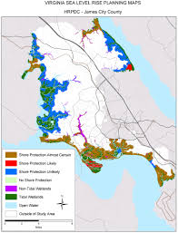 County Map Virginia by Sea Level Rise Planning Maps