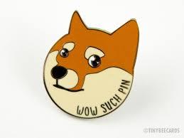 Such Meme - doge shiba inu meme enamel pin wow such pin tiny bee cards