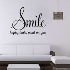 inspirational quotes for bedroom walls inspirational quotes for bedroom walls inspirational quote happy looks good on you vinyl wall decal
