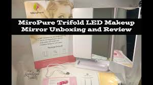 assis led lighted makeup mirror miropure trifold led makeup mirror unboxing and review youtube