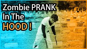 zombie prank in the graveyard halloween scare prank 2016 youtube