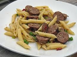 Pasta Sausage Sausage U0026 Penne In Garlic Olive Oil Amanda U0027s Cookin U0027