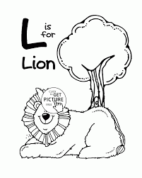 letter l alphabet coloring pages for kids letter l words