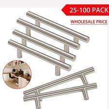 lot stainless steel t bar modern kitchen cabinet door handles