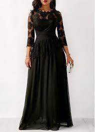 maxi dresses chiffon three quarter sleeve maxi dress rosewe usd 45 45