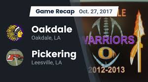 pickering high leesville la football boys varsity football oakdale high oakdale louisiana