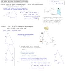 math plane law of sines and cosines u0026 area of triangles